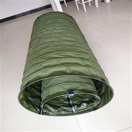军绿色帆布软连接厂家供应