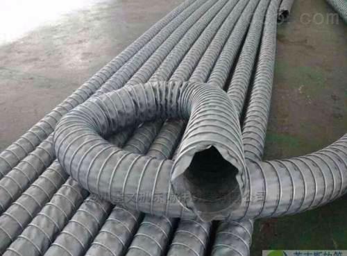钢丝骨架耐温通风伸缩风管价格