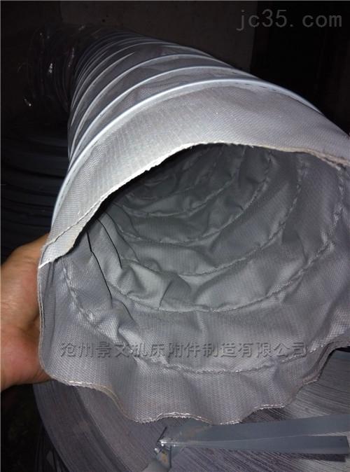 灰色硅胶布排烟风管按口径定做