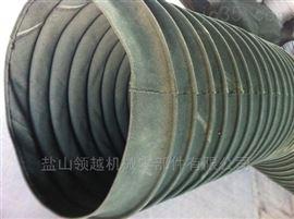重庆水泥厂耐磨帆布卸料口伸缩布袋