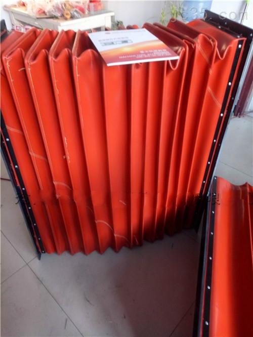 红色硅胶布方形进风口软连接价格